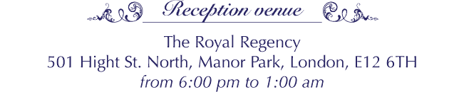 The Royal Regency, 501 High St. North, Manor Park, London, E12 6TH
